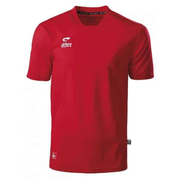maillot rouge eldera manches courtes