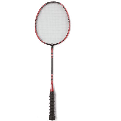 Raquette de badminton d'initiation avec tige en acier et tête en aluminium