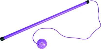 bâton de saut violet pour enfant avec boule