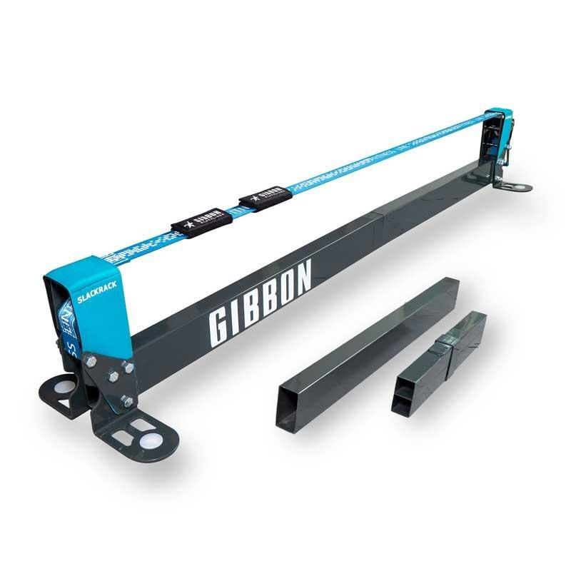 Le GIBBON SLACK RACK - FITNESS EDITION permet de s'entrainer partout, en extérieur, comme en extérieur, en toute sécurité grâce à la faible hauteur de pratique.