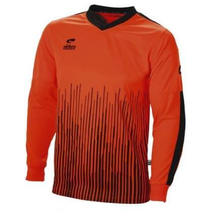 maillot manches longues orange rayé gardien