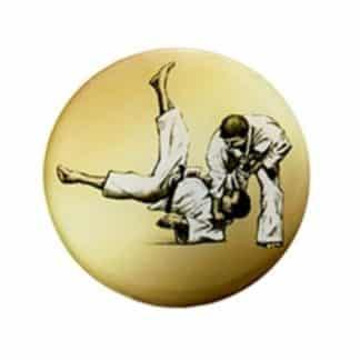 deux hommes qui jouent au judo dessiné sur centre