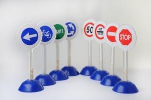 Sécurité routière- Set de 8 mini panneaux