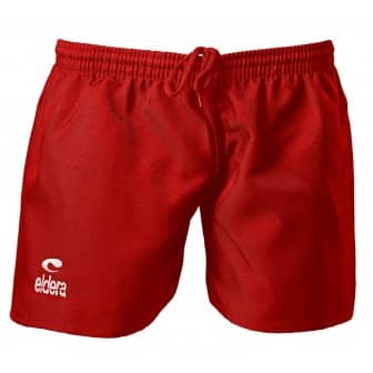 Short rugby rouge