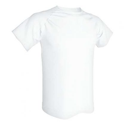 T-shirt technique 100% polyester- Blanc