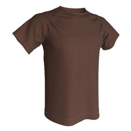T-shirt technique 100% polyester- Brown- Marron chocolat