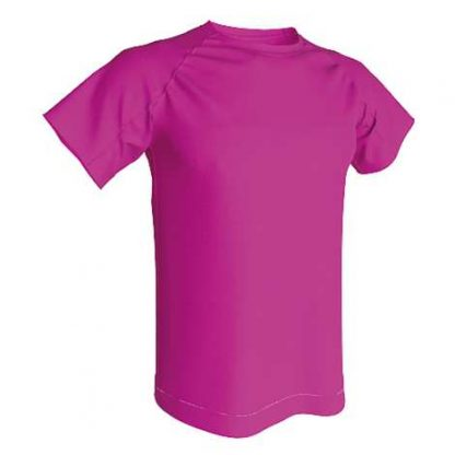 T-shirt technique 100% polyester- Fushia