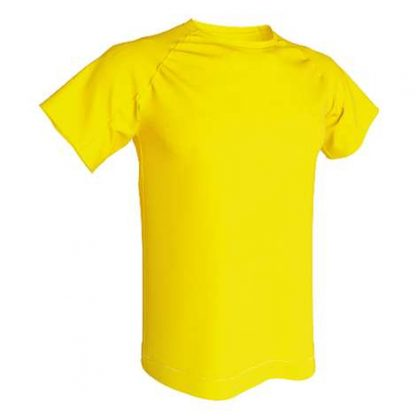 T-shirt technique 100% polyester- jaune or