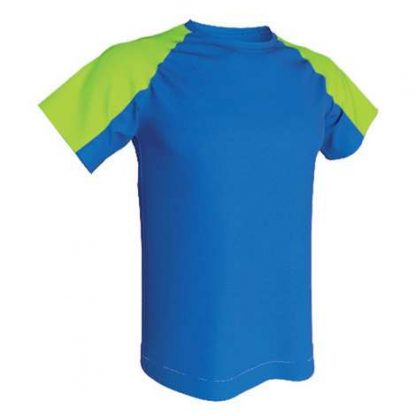 T-shirt technique bicolore-Roy-Vert fluo