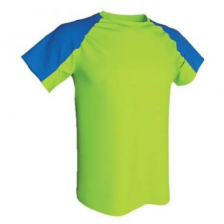 T-shirt technique bicolore-Vert fluo-Roy