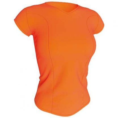 Tee-shirt technique femme-Orange fluo