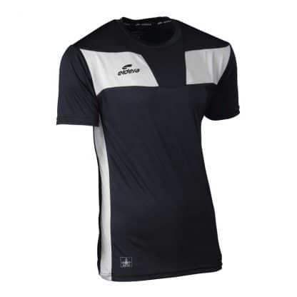 tee-shirt noir et blanc