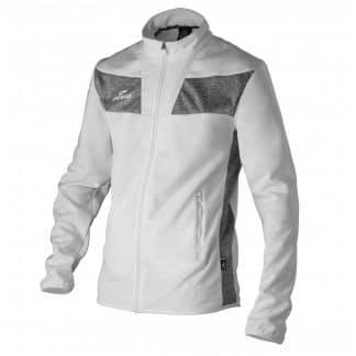 veste blanche et grise